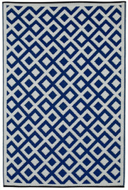 Marina Blue and White Outdoor Rug - Stella Rugs