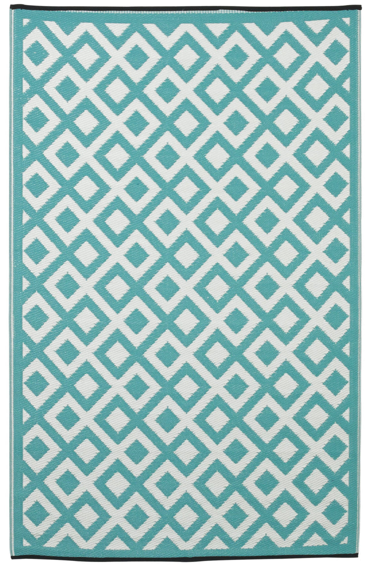 Marina Green and White Outdoor Rug - Stella Rugs