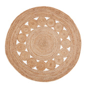 Jute - Medallion Circle Hand Braided Jute Rug - Stella Rugs