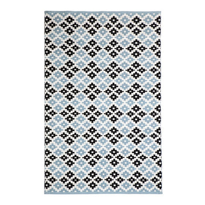 Modern Megh Blue - 100% Cotton Rug - Stella Rugs