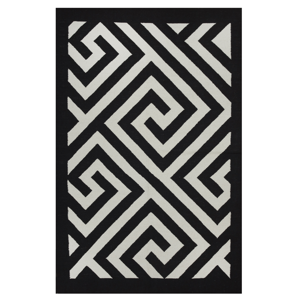 Modern Broadway Black - 100% Recycled Cotton - Stella Rugs