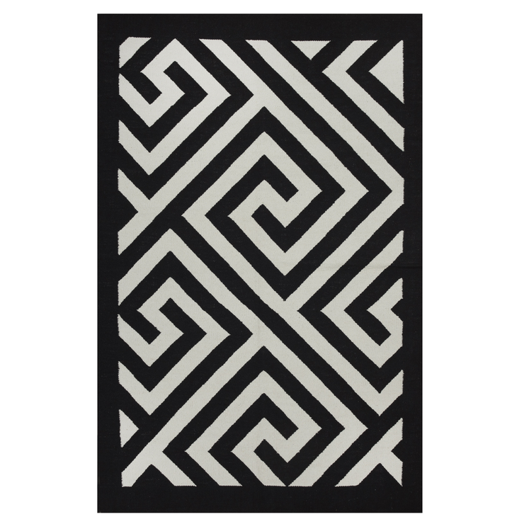 Modern Broadway Black - 100% Cotton - Stella Rugs