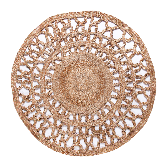 Jute - Mogra Natural Circle Hand Braided Rug - Stella Rugs