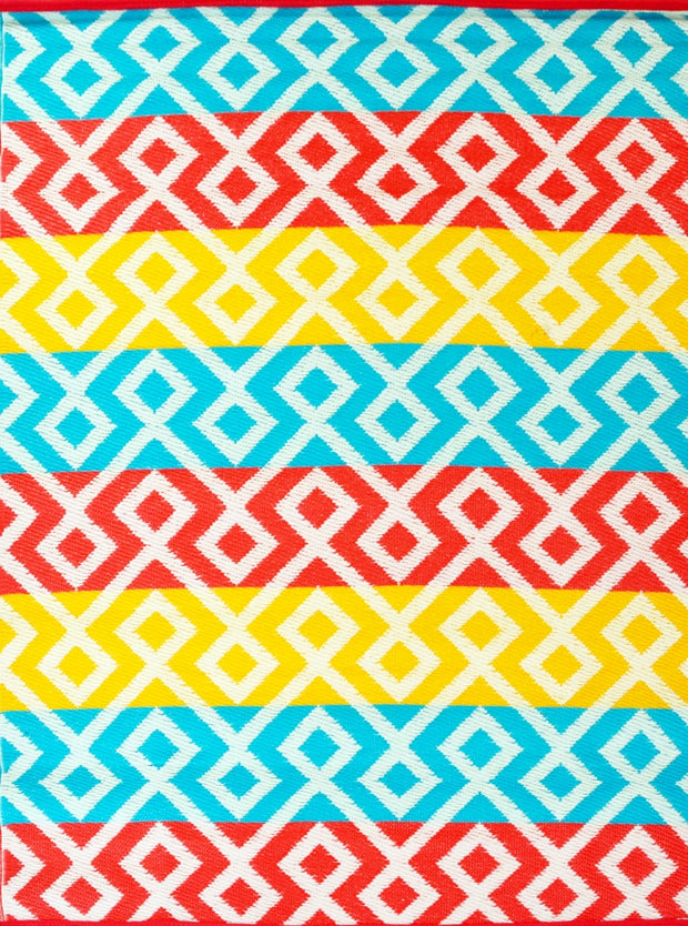 Angles Orange and Yellow Multi Outdoor Rug - Stella Rugs