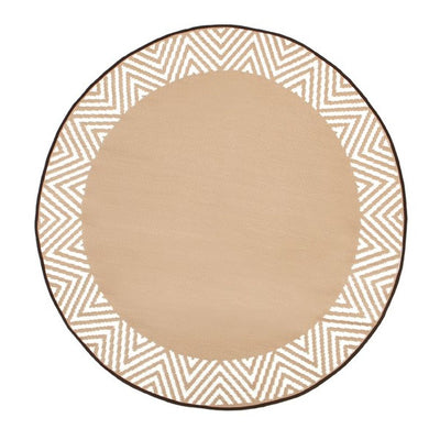 Olympia Beige Round Outdoor Rug - Stella Rugs