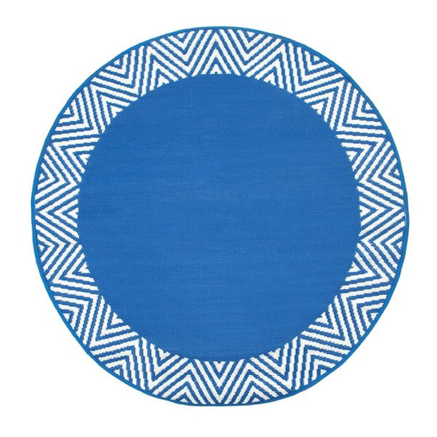 Olympia Blue Round Outdoor Rug - Stella Rugs