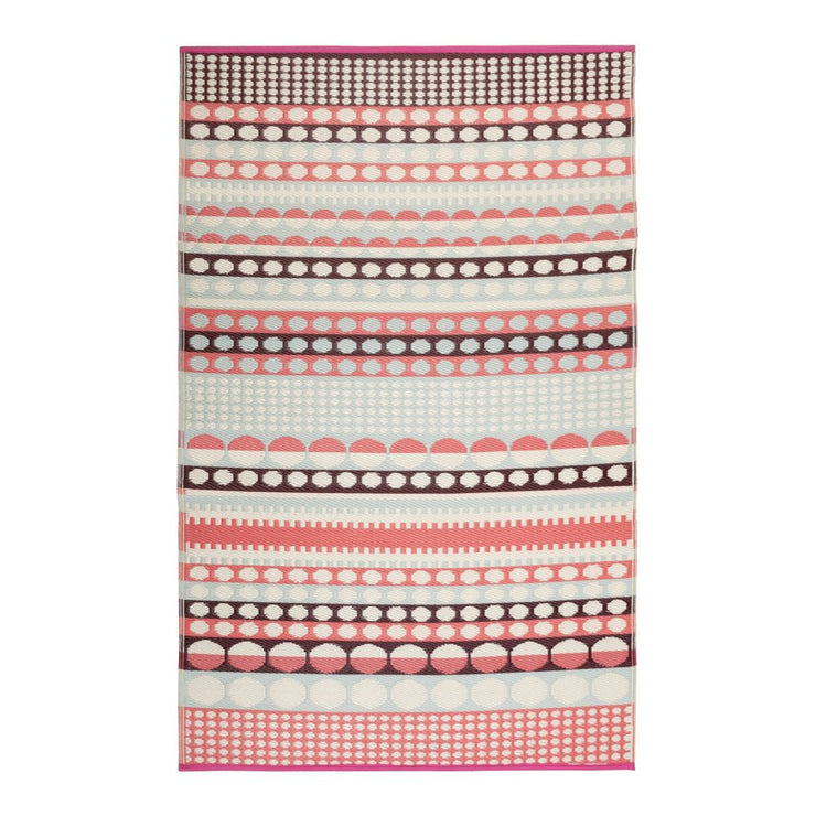 Rovaniemi Pink and Blue Outdoor Rug - Stella Rugs