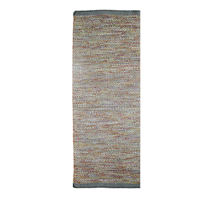 Daisy Grey Runner - Modern Flat Weave Pure Wool Fully Reversible Rug