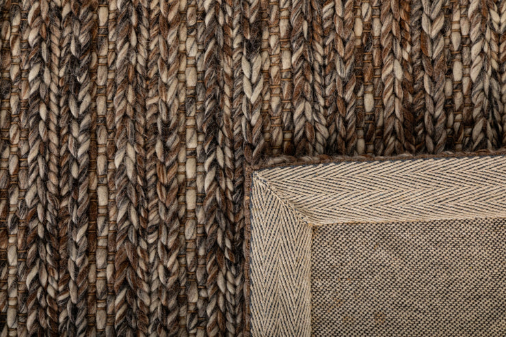 Svend Mocha Hand Braided Pure Wool Floor Rug - Stella Rugs