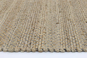 Taj Black Natural Basket Weave Jute Rug - Stella Rugs