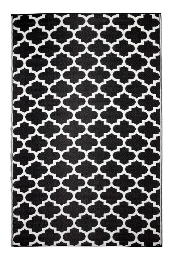 Tangier Black and White Outdoor Rug - Stella Rugs