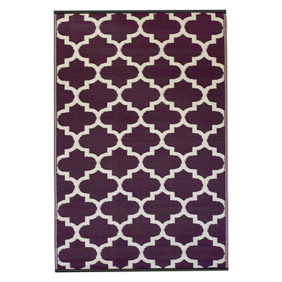 Tangier Purple & White Outdoor Rug - Stella Rugs