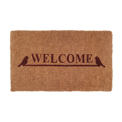 Doormat - Home Black 100% Coir - Stella Rugs