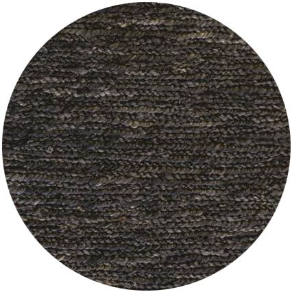 Hemp Black Handknotted Eco Friendly Floor Round Rug - Stella Rugs