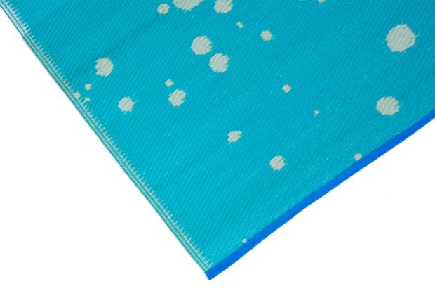 Beach Please Aqua Outdoor Rug - Stella Rugs