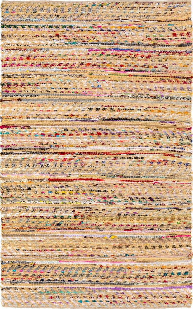 Jag Pastel Jute/Recycled Cotton Flat Weave Eco Floor Rug - Stella Rugs