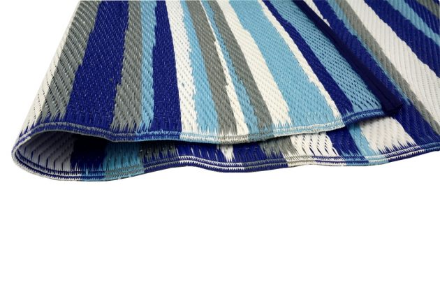 Stripes Blue Outdoor Rug - Stella Rugs