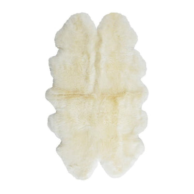Sheepskin Merino - White 4 Panel Rug - Stella Rugs