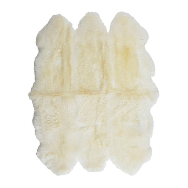 Sheepskin Merino - White 6 Panel Rug - Stella Rugs