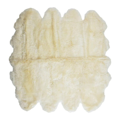 Sheepskin Merino - White 8 Panel Rug - Stella Rugs