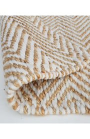 Jute and PET - Wavy Chevron Runner - Stella Rugs