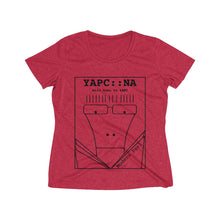 Load image into Gallery viewer, Milo Goes to YAPC (Women's Heather Wicking Tee)