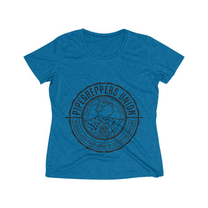 Pipegrepper's Union (Women's Heather Wicking Tee)