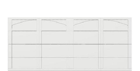 16 x 7 garage door white panel  - Courtyard 161t arch - no window
