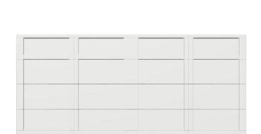 16 x 7 garage door white panel -  Courtyard 161t square  - no window