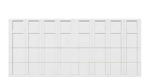 16 x 7 garage door white panel - Courtyard 163t square - no window