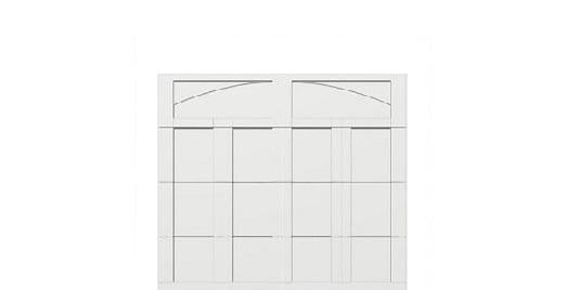 8 x 7 garage door white panel  - Courtyard 163t arch - no window