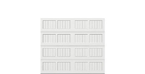 8 x 7 Thermacore Insulated Steel Garage Door (V5) white panels, no window