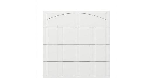 8 x 8 garage door white panel  - Courtyard 163t arch - no window