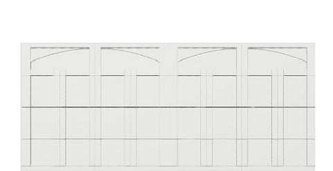 16' x 7' Courtyard 7560 (C5) Arch Garage Door