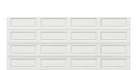 16 x 7 Thermacore Insulated Steel Garage Door long white panels, no window