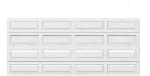16 x 7 Traditional Steel Garage Door long white panels, no window