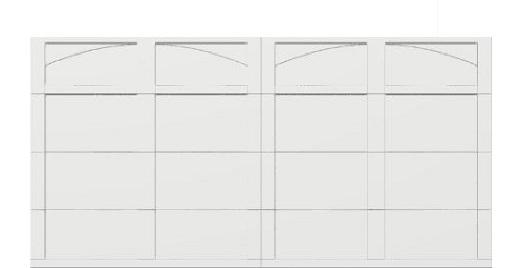 16 x 8 garage door white panels - Courtyard 161t arch - no window