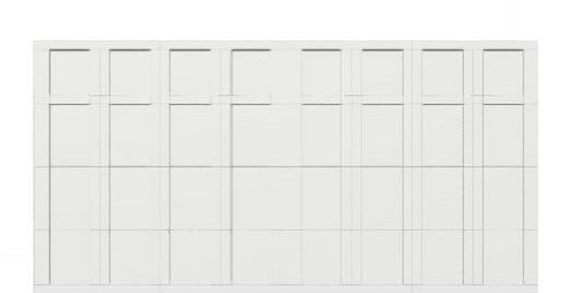 16 x 8 garage door white panels - Courtyard 161t Square - no window