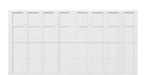 16 x 8 garage door white panel  - Courtyard 163t square - no window