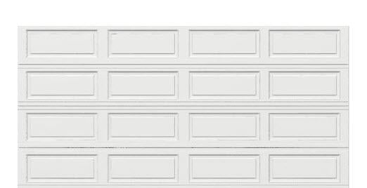 16 x 8 Thermacore Insulated Steel Garage Door long white panels, no window