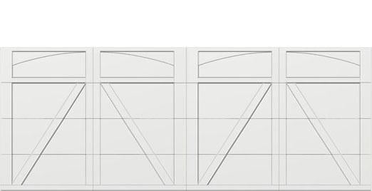 18 x 7 garage door white panel  - Courtyard 165t arch - no window