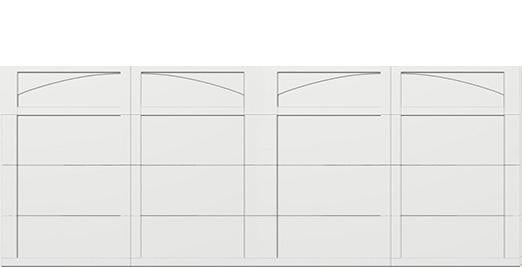 18 x 7 garage door white panel -  Courtyard -161t arch - no window