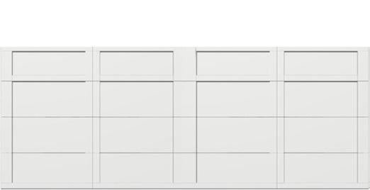 18 x 7 garage door white panel -  Courtyard 161t square - no window