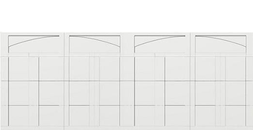 18 x 7 garage door white panel  - Courtyard 163t arch - no window