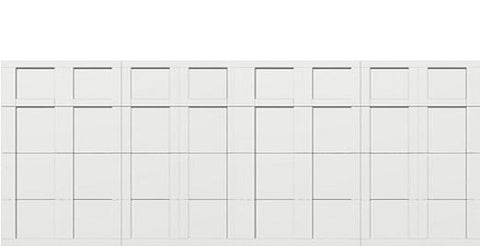 18 x 8 garage door white panel  - Courtyard 163t square - no window