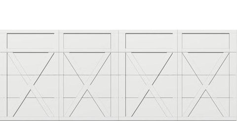 18 x 7 garage door white panel  - Courtyard 167t square - no window