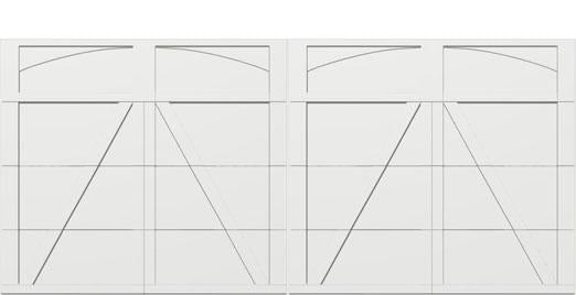 18 x 8 garage door white panel  - Courtyard 165t arch - no window