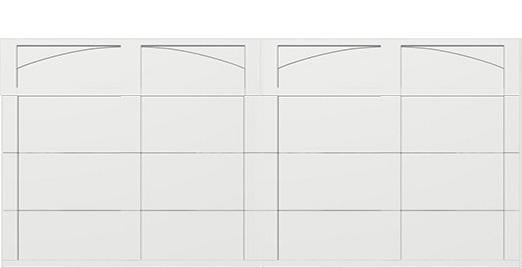 18 x 8 garage door white panels - Courtyard 161t arch - no window