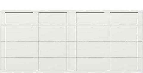18 x 8 garage door white panels - Courtyard 161t square - no window
