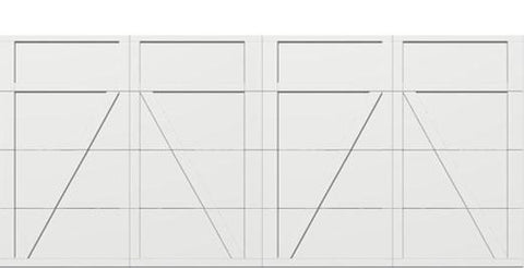 18 x 8 garage door white panel  - Courtyard 165t square - no window